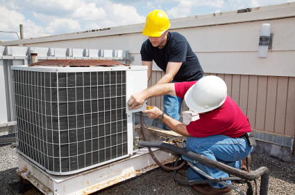 ICE engineers servicing aircon & chiller equipment